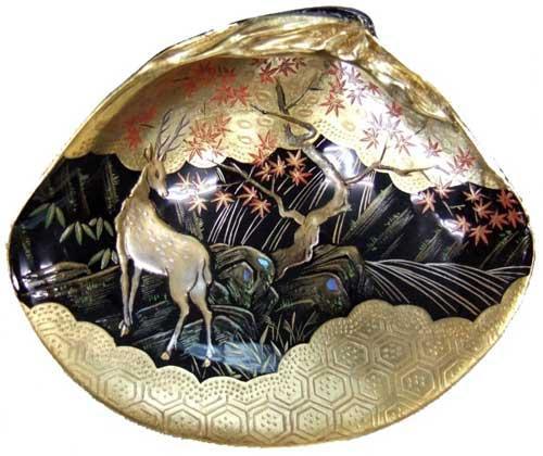 「蒔絵と螺鈿」貝合せ鹿紅葉
