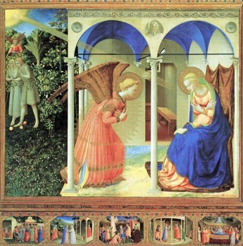 フラ・アンジェリコ《受胎告知》プラド美術館