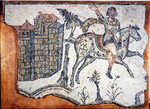 ヴァンダル人騎士のモザイク画(北アフリカ、500年頃)
