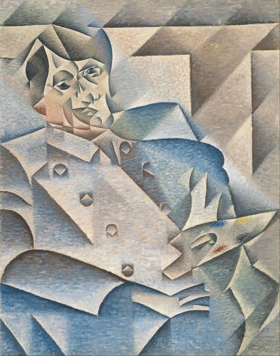 ピカソの肖像画(画・ファン・グリス、蔵・シカゴ美術館)