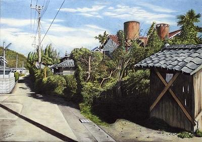 古いタンクのある風景 南房総市岩井