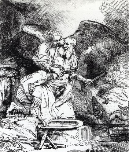 レンブラント「アブラハムの犠牲」
