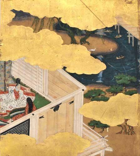 愛知県立大学長久手キャンパス図書館・所蔵~「源氏物語絵色紙」より総角