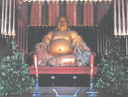 京都 萬福寺 布袋座像