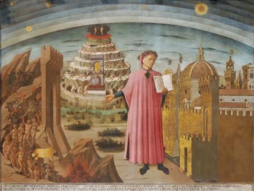 ダンテと地獄・煉獄・天国(フィレンツェ、ドゥオーモ所蔵)