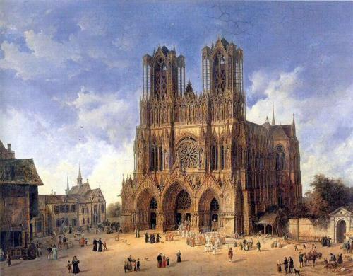 ランスの大聖堂(ドメニコ・クアーリョ画、ライプツィヒ造形美術館所蔵)
