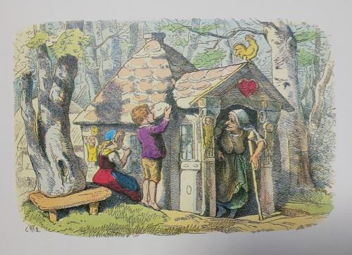 「ヘンゼルとグレーテル」テオドール・ホーゼマン(1868)