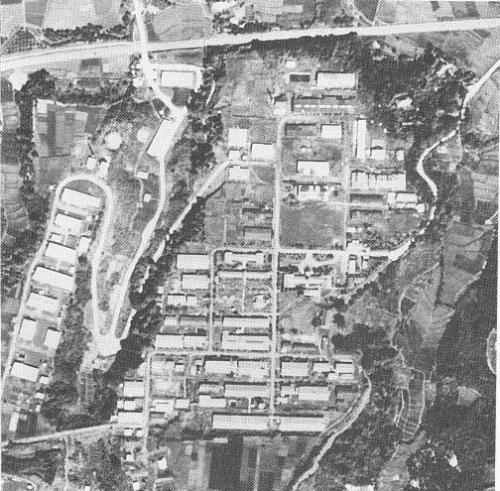 終戦直後の登戸研究所の航空写真