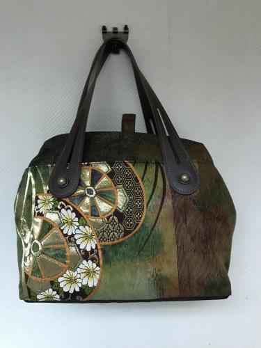 帯で作ったバッグ