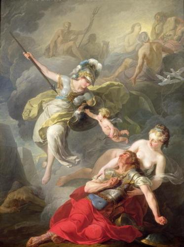 アテナとアレスの戦争(ジョセフ=ブノワ・シュヴァ)