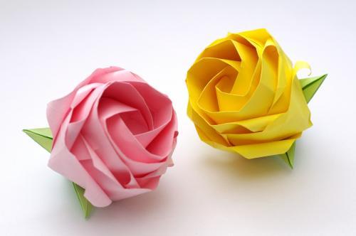 「ねじり折りのバラ(N3,N4 原理モデル)」
