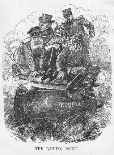 バルカン問題(Balkan troubles. Leonard Raven-Hill. 1912)