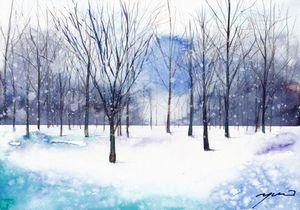 雪を描く①基本