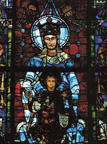 《美しき絵ガラスの聖母》仏シャルトル大聖堂
