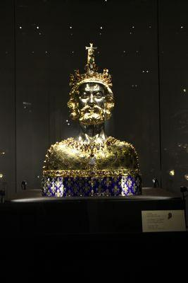 カール大帝の胸像(アーヘン大聖堂)