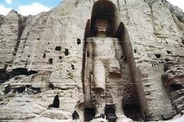 バーミヤン石窟部分(西方崖西の大仏-2001年タリバンによる破壊前)