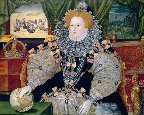 エリザベスⅠ世肖像画(作者不明)