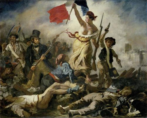 民衆を導く自由の女神(画・ウジェーヌ・ドラクロワ、蔵・ルーヴル美術館)