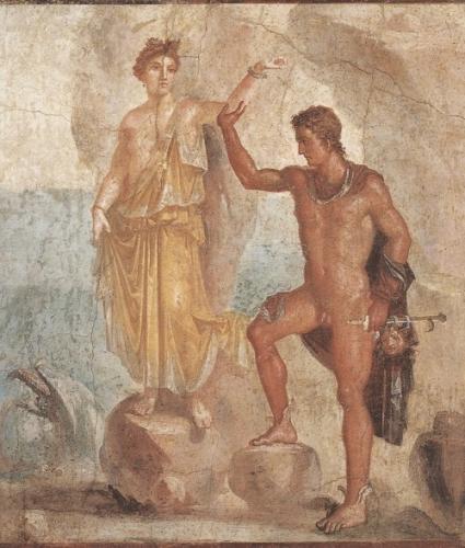 ポンペイ壁画《ペルセウスとアンドロメダ》