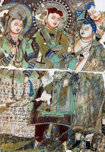 クチャの壁画の図版