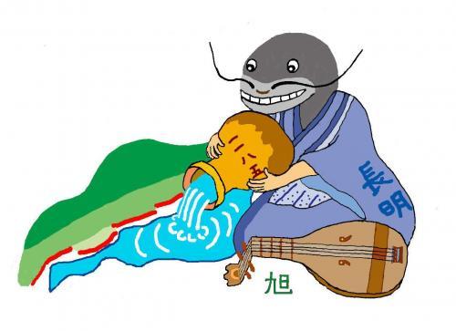 「琵琶湖の大地震」講師によるイラスト