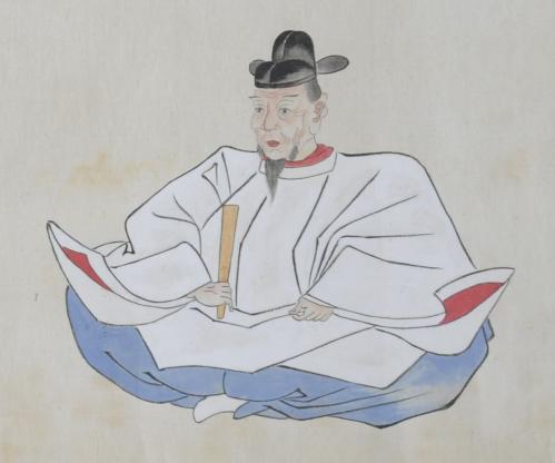 九州大学附属図書館所蔵「人像巻物」<細川文庫>秀吉像