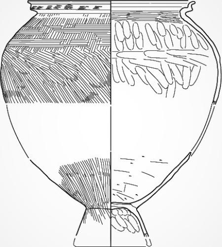 3世紀前半・濃尾平野のS字状台付甕形土器