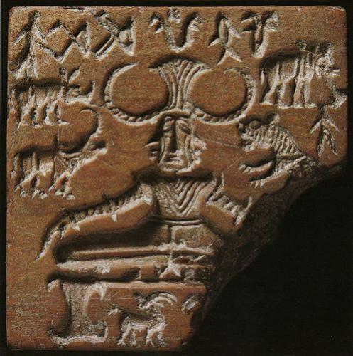 印章に刻まれた「有角神」のモチーフ