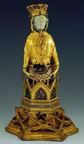 ダヴィデ像型聖遺物容器、バーゼル歴史博物館(バーゼル大聖堂旧蔵)、1300年頃