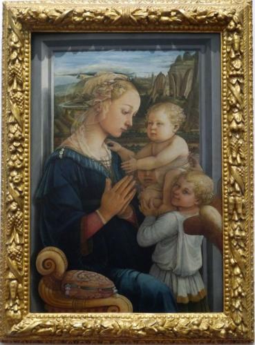フィリッポ・リッピ「聖母子と二天使」