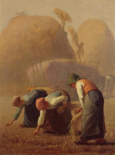ジャン=フランソワ・ミレー《落ち穂拾い、夏》1853年 油彩・麻布