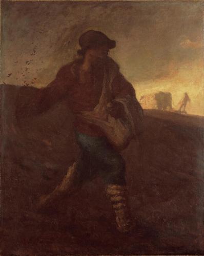 ジャン=フランソワ・ミレー《種をまく人》1850年 油彩・麻布