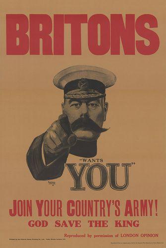 第一次世界大戦に関するポスター